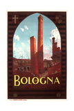 Travel Poster for Bologna Reprodukcje