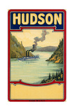Steamboat on the Hudson River Poster