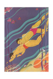 Islanders Swimming Posters