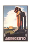 Travel Poster for Agrigento Plakaty