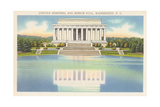 Lincoln Memorial and Mirror Pool Print