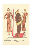 Fashion Illustration, Three Dresses Posters