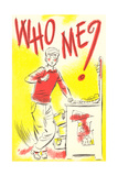 Who Me Cartoon Kid Prints