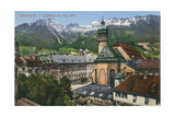 View of Mountains from Innsbruck, Austria Prints
