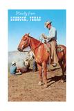 Howdy from Lubbock, Branding Poster