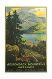 Adirondacks Travel Poster Giclée-Premiumdruck