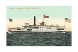 Steamboat on Lake Champlain Prints
