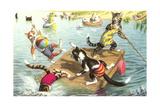 Crazy Cats at the Lake Prints