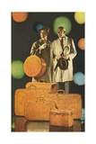 Couple with Lots of Luggage Print