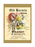 Old Harwin Whiskey Label Prints