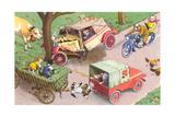 Crazy Cats Crash Car Art