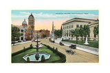Fountain Square, Chattanooga Poster
