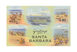 Vintage Greetings from Santa Barbara Art
