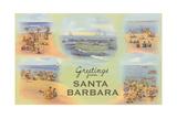 Vintage Greetings from Santa Barbara Art