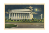 Lincoln Memorial and Washington Monument Prints