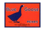 Blue Goose Pear Label Print