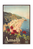 Travel Poster for Amalfi Art