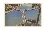 Y Bridge, Zanesville Posters