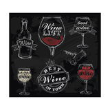 Chalk Wine Poster by  bioraven
