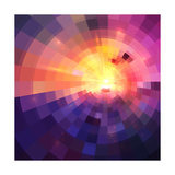 Abstract Colorful Shining Circle Tunnel Background Premium Giclee Print by  art_of_sun