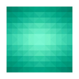 Abstract Green Triangle Background Print by  epic44
