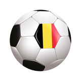 Soccerball with Country Flag Poster by  Flarextius