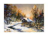 Rural Winter Landscape Posters by  balaikin2009
