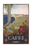 Travel Poster for Capri Poster