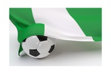 Nigeria Flag with Championship Soccer Ball Posters by  BarbraFord