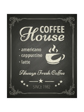 Coffee Poster on Blackboard Prints by  hoverfly