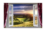 Amazing Window View Premium Giclee Print by  MrEco99
