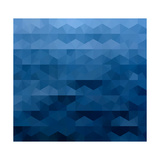 Abstract Blue Background Print by  epic44