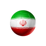 Soccer Football Ball with Iran Flag Premium Giclee Print by  daboost