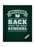 Back to School Message on Blackboard Premium Giclee Print by  VikaSuh