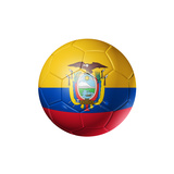 Soccer Football Ball with Ecuador Flag Print by  daboost
