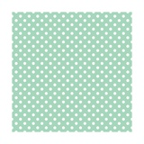 White Polka Dots on a Retro Vintage Mint Green Background Prints by  IngaLinder