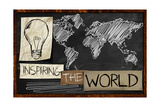 Inspiring the World on Blackboard Posters by  NatanaelGinting