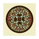 Human Leaves Yoga Mandala Premium Giclee Print by  cienpies