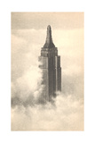 Empire State Building in the Clouds Print