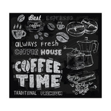 Coffee on Chalkboard Prints by  bioraven