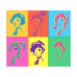 Young Fashion Woman Design, Pop Art Prints by  lavitrei