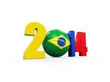 Brazil Soccer 2014 Print by  Nerthuz