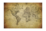 Vintage Map of the World, 1814 Poster von  javarman