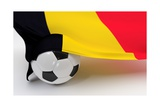 Belgium Flag with Championship Soccer Ball Print by  BarbraFord