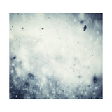 Winter, Christmas Background: Snow Storm, Frost, Glittering Lights Poster by PHOTOCREO Michal Bednarek