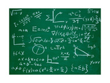 Math Formulas on School Blackboard Education Láminas por  PicsFive