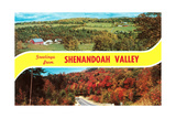 Greetings from Shenandoah Valley Posters