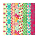 Collection of Bright and Colorful Backgrounds or Digital Papers Poster by Pink Pueblo