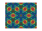 Kaleidoscope Color Pattern Prints by  natbasil