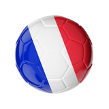 Soccer Ball with Flag of France Posters by  zdesign